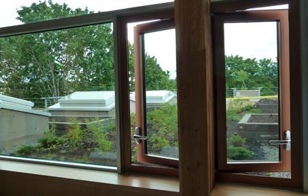 VIU LEED Cowichan Campus interior windows