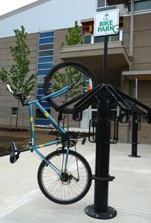Bicycle parking at the Cowichan Campus