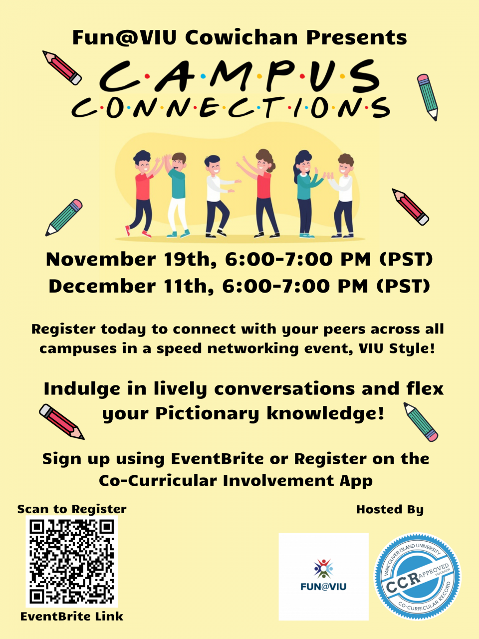 Campus Connections November 19th and December 11th
